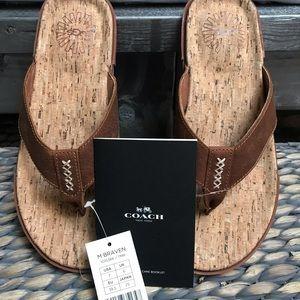 Men's Ugg Leather Flip Flops